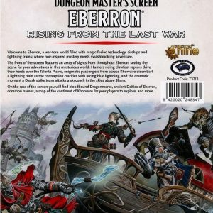 Eberron Rising from last war Dungeon Masters Screen
